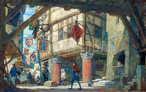 Evgeny Lanceray: Bühnenbildentwurf 1907