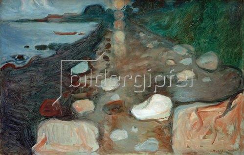 Edvard Munch: Mondschein am Strand