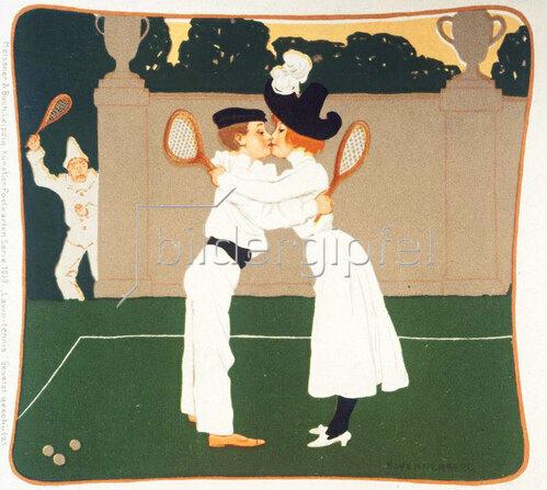 Wennerberg Brynolf: Erste Liebe auf dem Tennisplatz, 1900