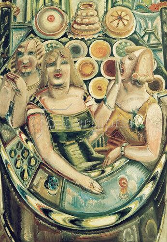 Paul Kleinschmidt: Drei Bardamen, 1933