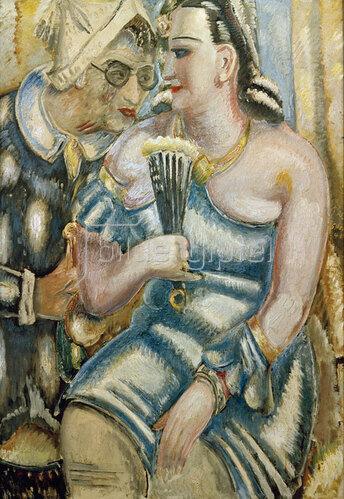 Paul Kleinschmidt: Der Maler und seine Frau im Faschingskostüm, 1940