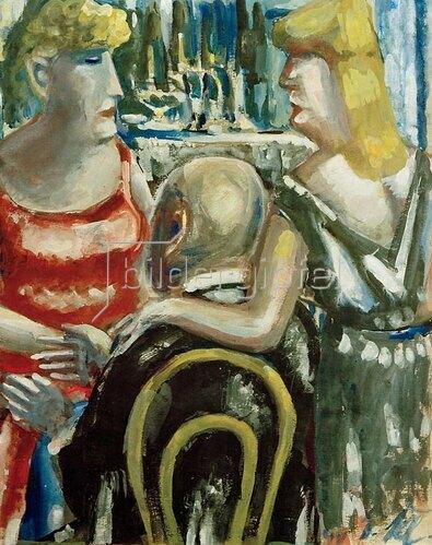 Paul Kleinschmidt: Zwei Frauen und ein Mann, 1947