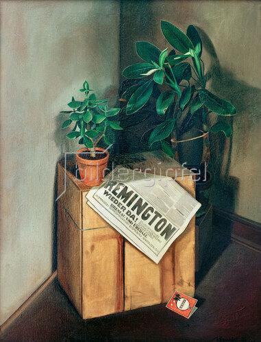 Arno Henschel: Stilleben mit Zeitung, 1925