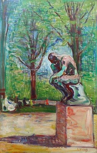Edvard Munch: Der Denker von Auguste Rodin im Park des Dr. Linde