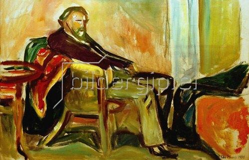 Edvard Munch: Selbstportrait nach InfluenzaMunch, Edvard, Selbstportrait nach Influenza, 1919, Öl auf Leinwand, 60 × 90 cm,