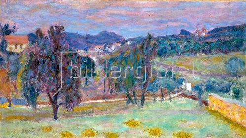 Pierre Bonnard: Violette Landschaft, der Abend