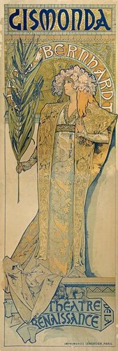 Alfons Mucha: Sarah Bernhardt als Gismonda