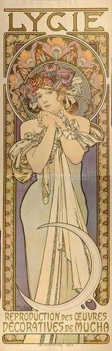 Alfons Mucha: Lygia - Reproduktion der dekorativen Werke von Mucha