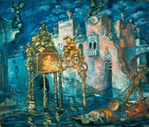 Anatoly Arapov: Stage design: Canal in Venice 1927