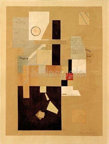 Kurt Schwitters: Ohne Titel (4 KR) , 1921.
