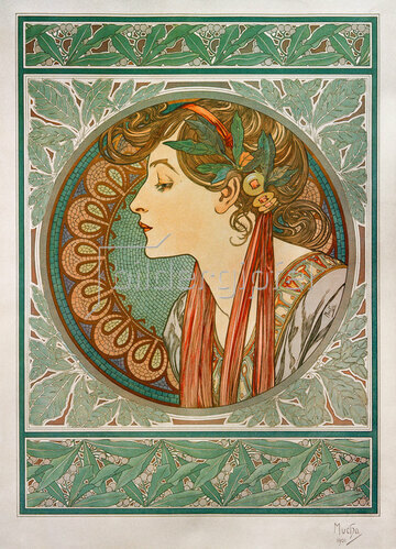Alfons Mucha: Lorbeer 1901 (Gegenstück zu Efeu)
