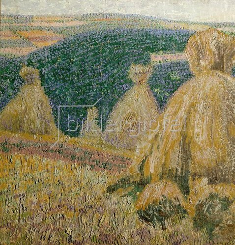 Leopold Blauensteiner: Landschaft mit Aehrengarben, 1902