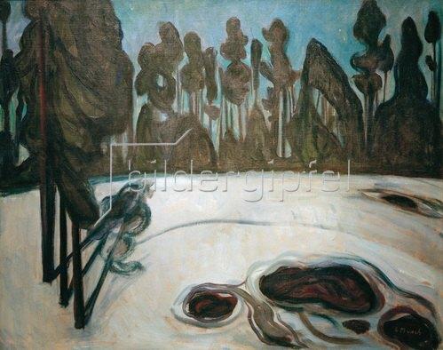 Edvard Munch: Winterlandschaft, Sternennacht, Winterlandschaft mit Sternen