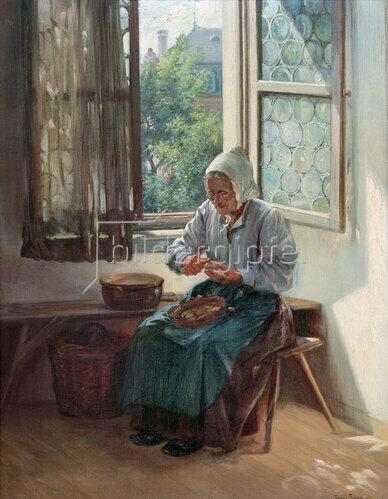 Emil Gies: Kartoffelschälerin, 1905