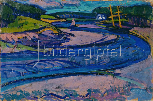 Gino Rossi: Canal in Brittany