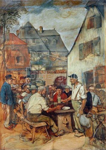 Fritz Boehle: Heckenwirtschaft in Sachsenhausen, 1898