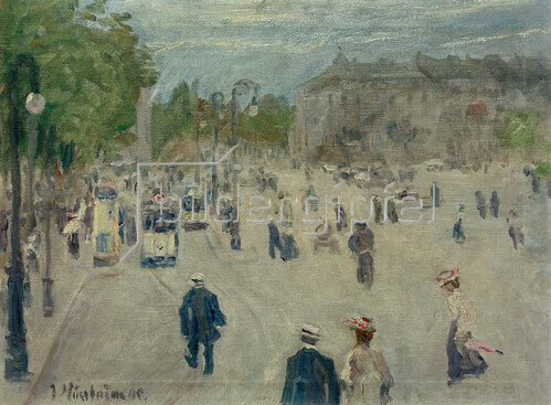 Jakob Nussbaum: Opernplatz in Frankfurt am Main, 1905