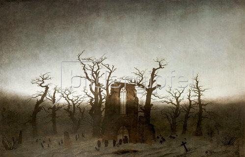 Caspar David Friedrich: Abtei im Eichwald, 1809-10