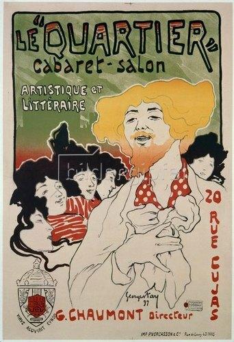 "Plakat für das Cabaret ""Quartier"""