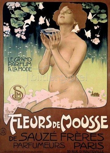 Parfum Fleurs de Mousse / Plakat 1898