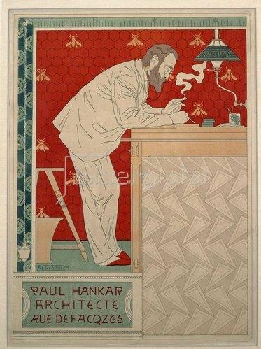 Paul Hankar / Plakat von A.Crespin