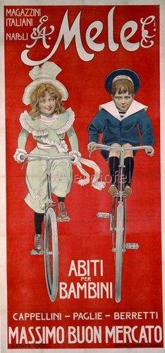 Kindermoden, Kaufhaus Mele / Plakat, 1900