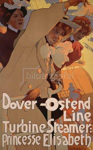 Adolf Hohenstein: Dover-Ostend Line / Turbinendampfer