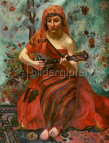 Henri Manguin: Die Mandolinenspielerin kleine Marie, 1912.