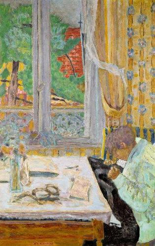 Pierre Bonnard: Die Schneiderin, oder Naeharbeit am Fenster
