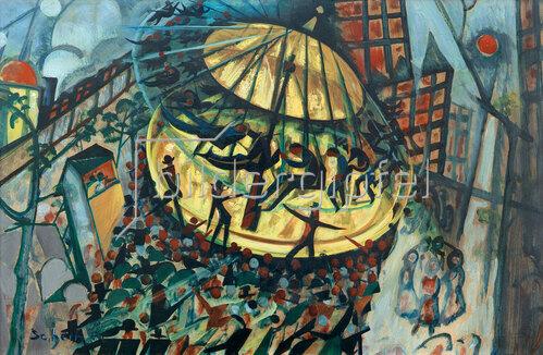 Hugo Scheiber: Wurstelprater, 1932