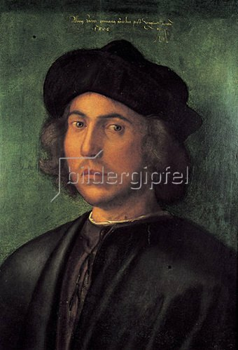Albrecht Dürer: Bildnis eines jungen Mannes, um 1506