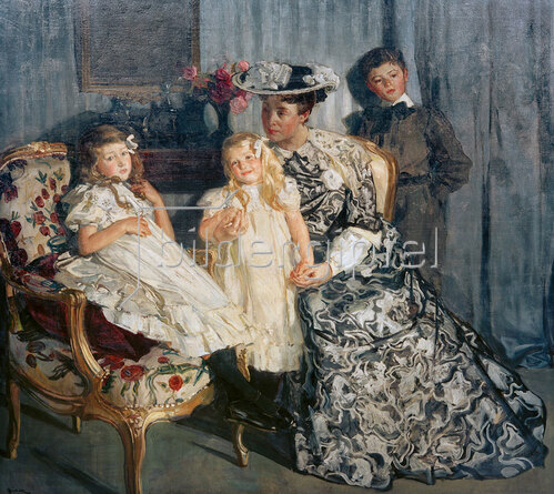 Lucien Simon: Madame Simon mit ihren Kindern