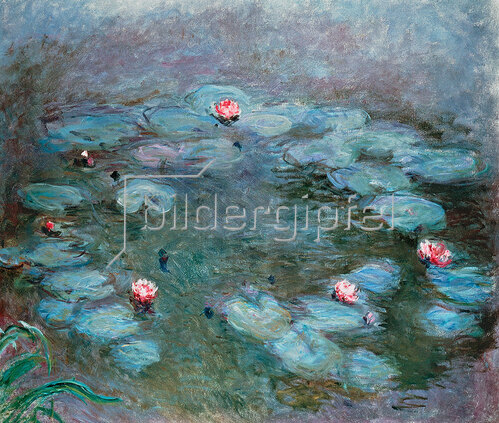 Claude Monet: Nymphéas (Seerosen), um 1914/17