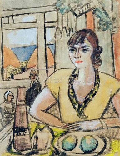 Max Beckmann: Portrait Quappi im Strandcafe