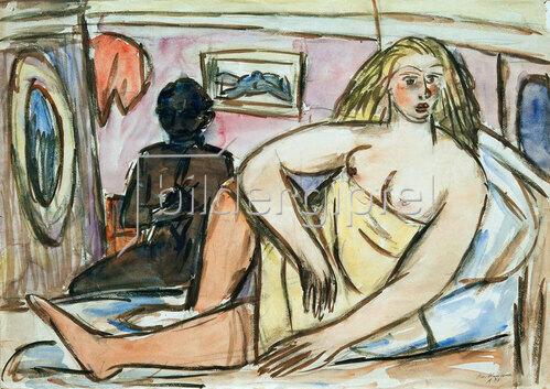 Max Beckmann: Liegende Frau