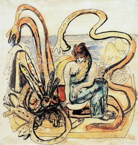Max Beckmann: Jungfrau mit dem Untier (Frau mit Meermann)