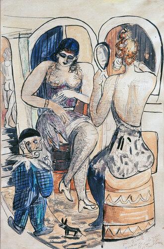 Max Beckmann: Zwei Tänzerinnen (Mädchen mit blauem Zwerg)