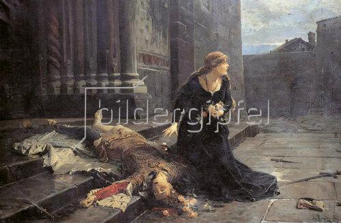 Ludovic Pogliaghi: Der Tod des Gianmaria Visconti, 1889