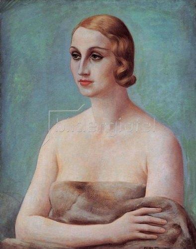 Ubaldo Oppi: Figura (La signora Ducrey) , 1926/27