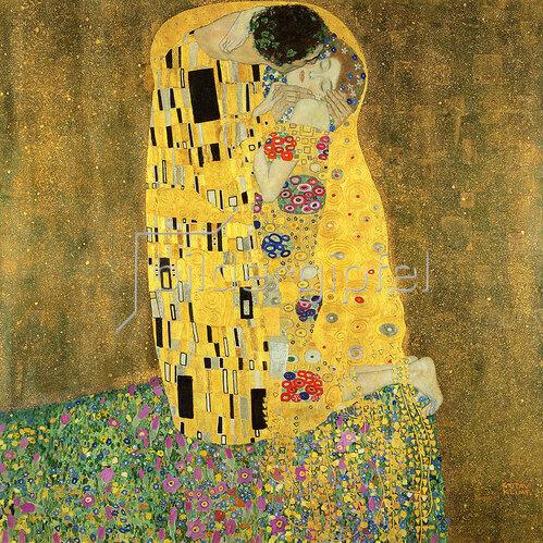 Gustav Klimt: Der Kuss, 1908-9