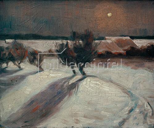 Max Beckmann: Schneelandschaft im Mondlicht, 1903