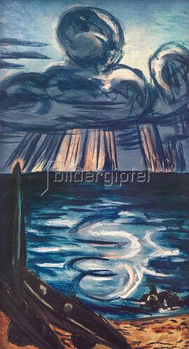 Max Beckmann: Meer mit großer Wolke, 1943