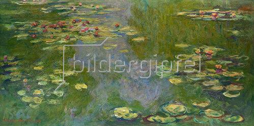 Claude Monet: Claude Monet, 1840?1926.Seerosen, Gemälde, 1919.Öl auf Leinwand, 101 × 200 cm.Inv. Nr. 1998.325.2New York, Metropolitan Museum of Art.