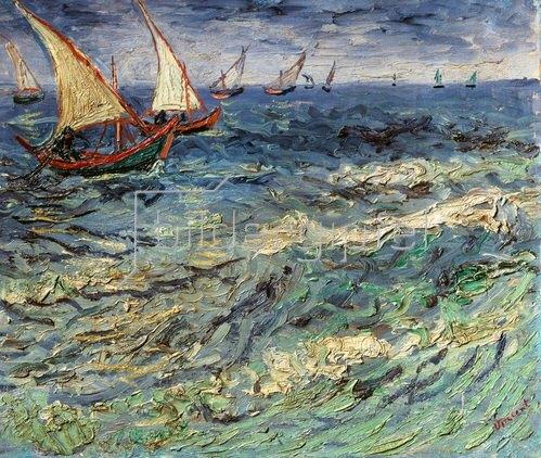 Vincent van Gogh: Fischerboote auf dem Meer bei Saintes-Maries. 1888
