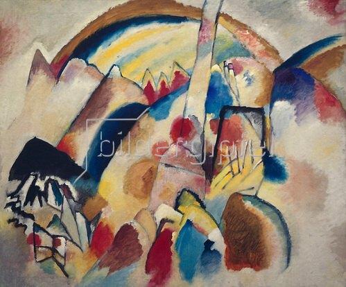 Wassily Kandinsky: Landschaft mit roten Flecken II