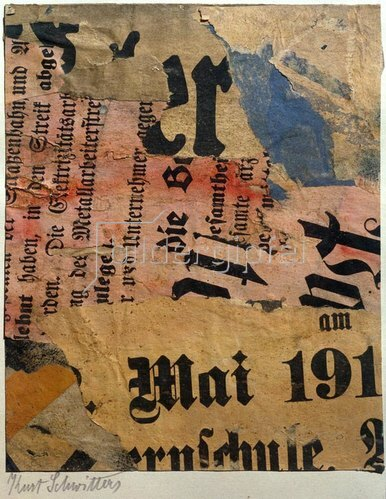Kurt Schwitters: Mai 191, 1923.