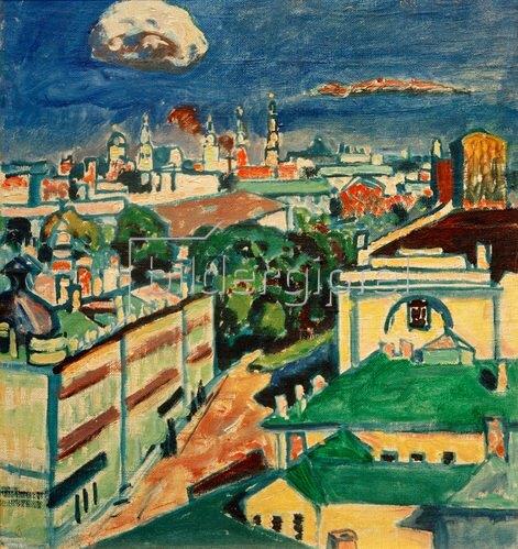 Wassily Kandinsky: Blick auf Moskau aus dem Fenster von Kandinskys Wohnung