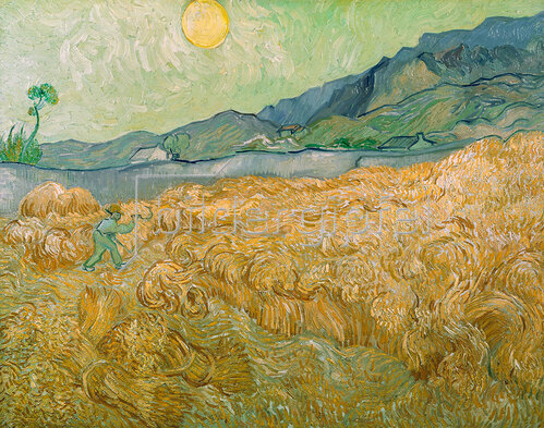 Vincent van Gogh: Weizenfeld mit Schnitter, Saint-Rémy-de-Provence