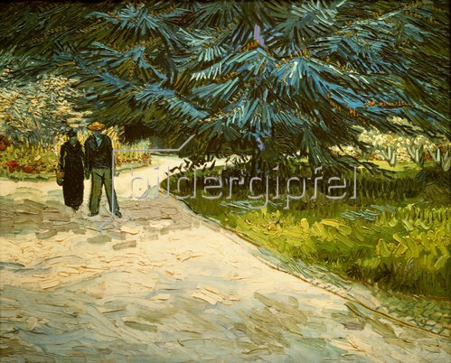 Vincent van Gogh: Im Jardin Publique in Arles. 1888.