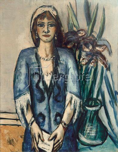 Max Beckmann: Quappi in Blau und Grau